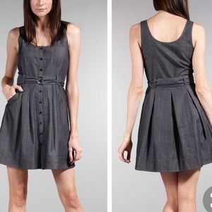 Theory 8 Hannia Greece Sleeveless Shirt Dress